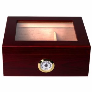 Mantello Cigar Desktop Humidor Royale Glasstop