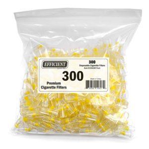EFFICIENT Disposable Cigarette Filters Bulk Economy Pack