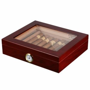 Volenx Desktop Cigar Humidor Case Glasstop Cigar Storage Box