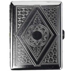 Victorian Era Crush Proof Chrome Cigarette Case