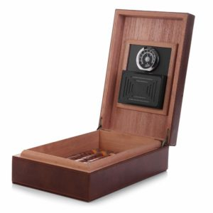 MEGACRA Cedar Cigar Humidor, Leather Cigar Box
