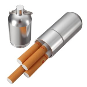 Mini Aluminum Cigarette Case Holder with Key Ring