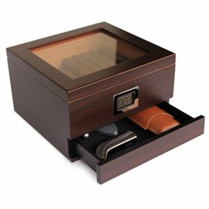 Glass Top Handcrafted Cedar Humidor