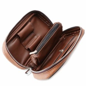 Scotte PU Leather Tobacco Smoking Wood Pipe Pouch case