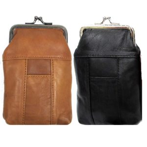 Snap Top Genuine Soft Leather Cigarette Case