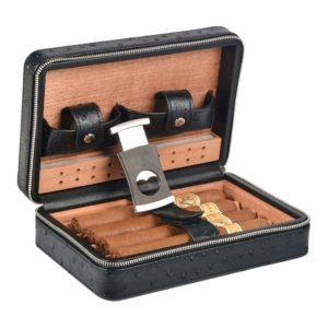 Volenx Portable Travel Leather Cigar Case
