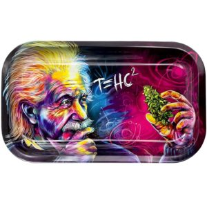 Metal Rolling Tray, T=HC2 Einstein Design by V Syndicate