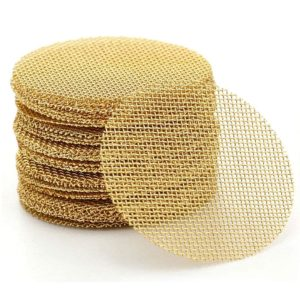 200 Pieces 100% Brass Pipe Screens, Brass Pipe Screen Filters with Metal Box