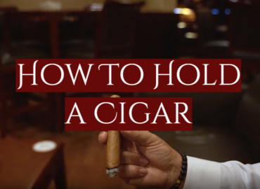 How To Hold a Cigar in a Proper Way
