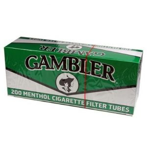 Gambler Green Menthol King Size RYO Cigarette Tubes 200ct Box (5 Boxes)