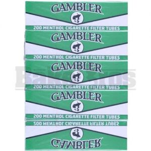 Gambler Regular Menthol Cigarette Tubes 5 Boxes